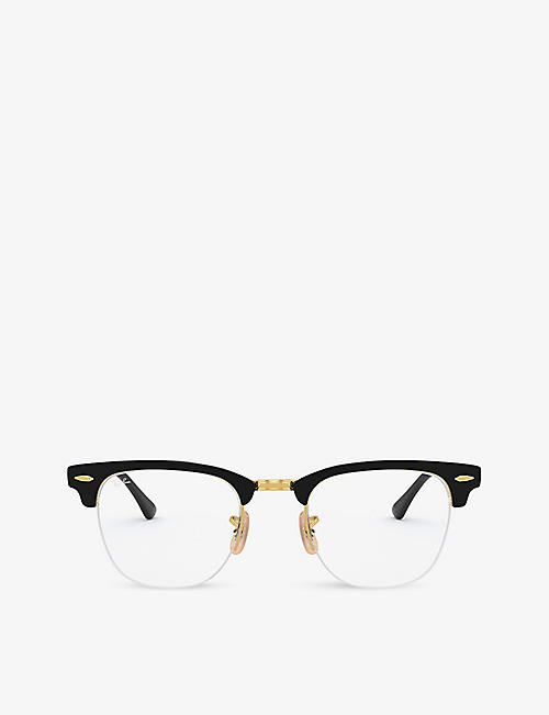 RAY-BAN: RX3716VM Clubmaster metal square glasses