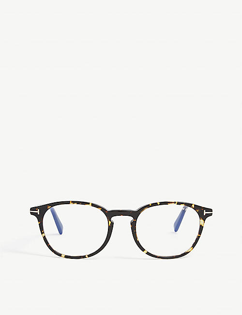 TOM FORD: FT5583-B acetate square-frame optical glasses