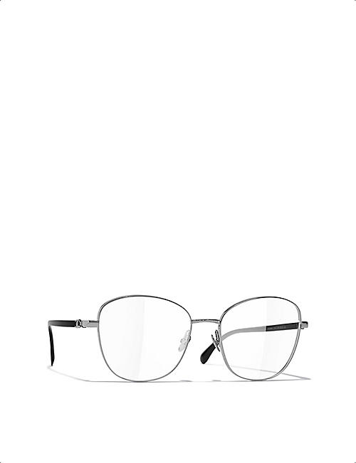CHANEL CH2198 metal round-frame glasses