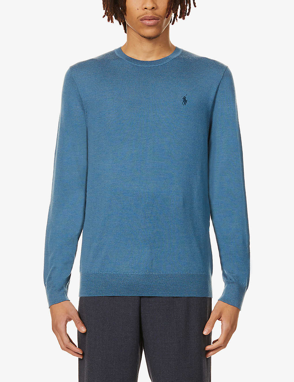POLO RALPH LAUREN: Logo-embroidered wool jumper