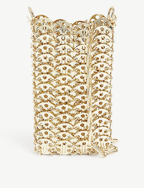PACO RABANNE: 1969 metallic-brass cross-body bag