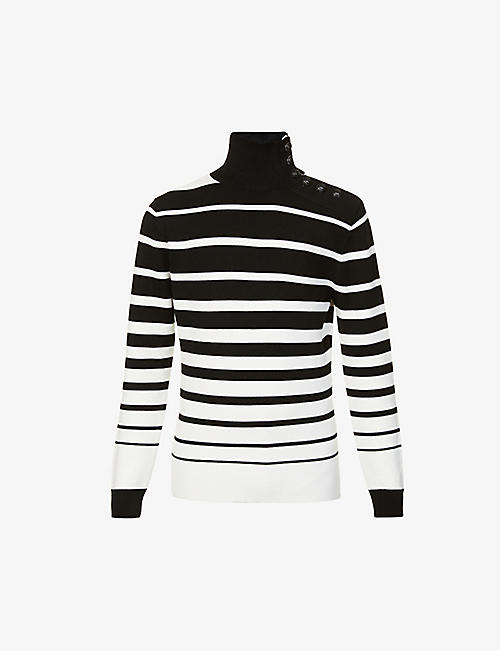 PACO RABANNE: Striped virgin wool jumper