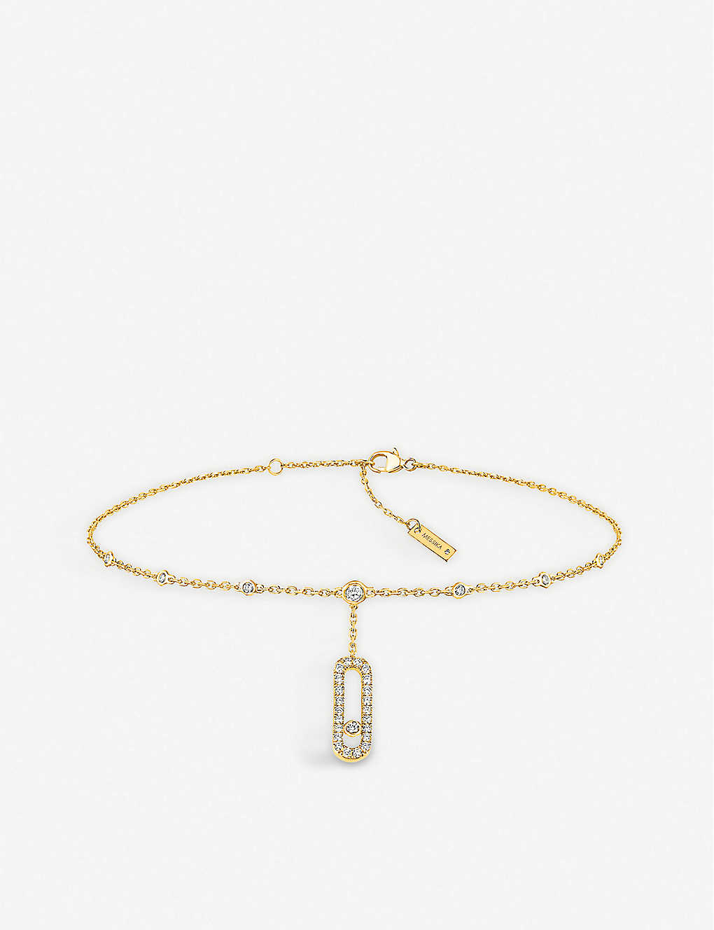 MESSIKA: Move Uno 18ct yellow-gold and diamond ankle bracelet