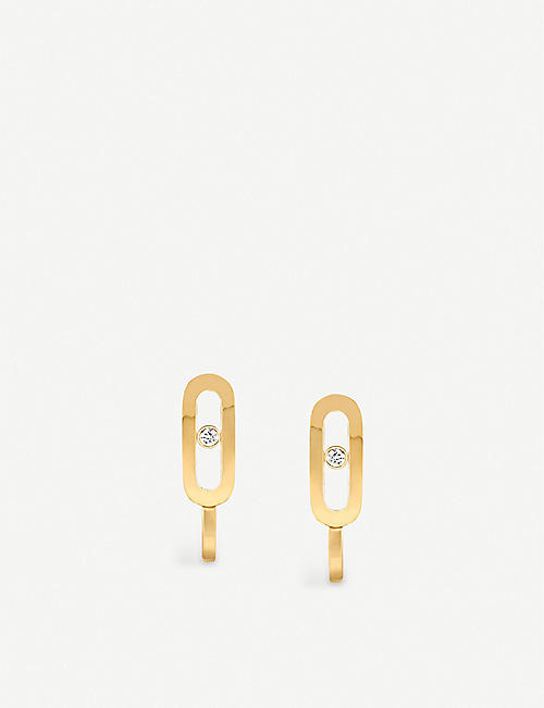 MESSIKA: Move Uno 18ct yellow-gold and diamond earrings