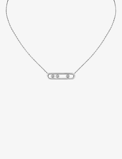 MESSIKA: Move Pavé 18ct white-gold and diamond necklace