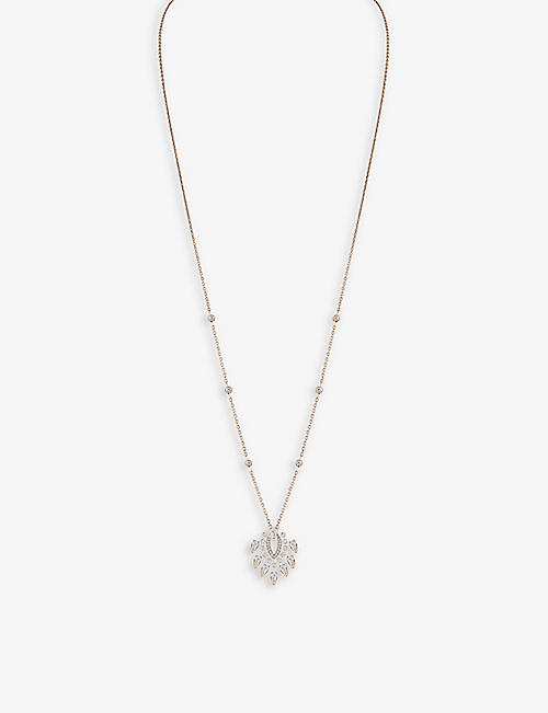 MESSIKA: Desert Bloom 18ct yellow-gold and 0.9ct diamond pendant necklace