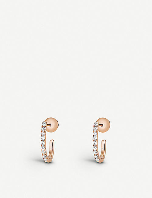 MESSIKA: Gatsby 18ct rose-gold and diamond hoop earrings