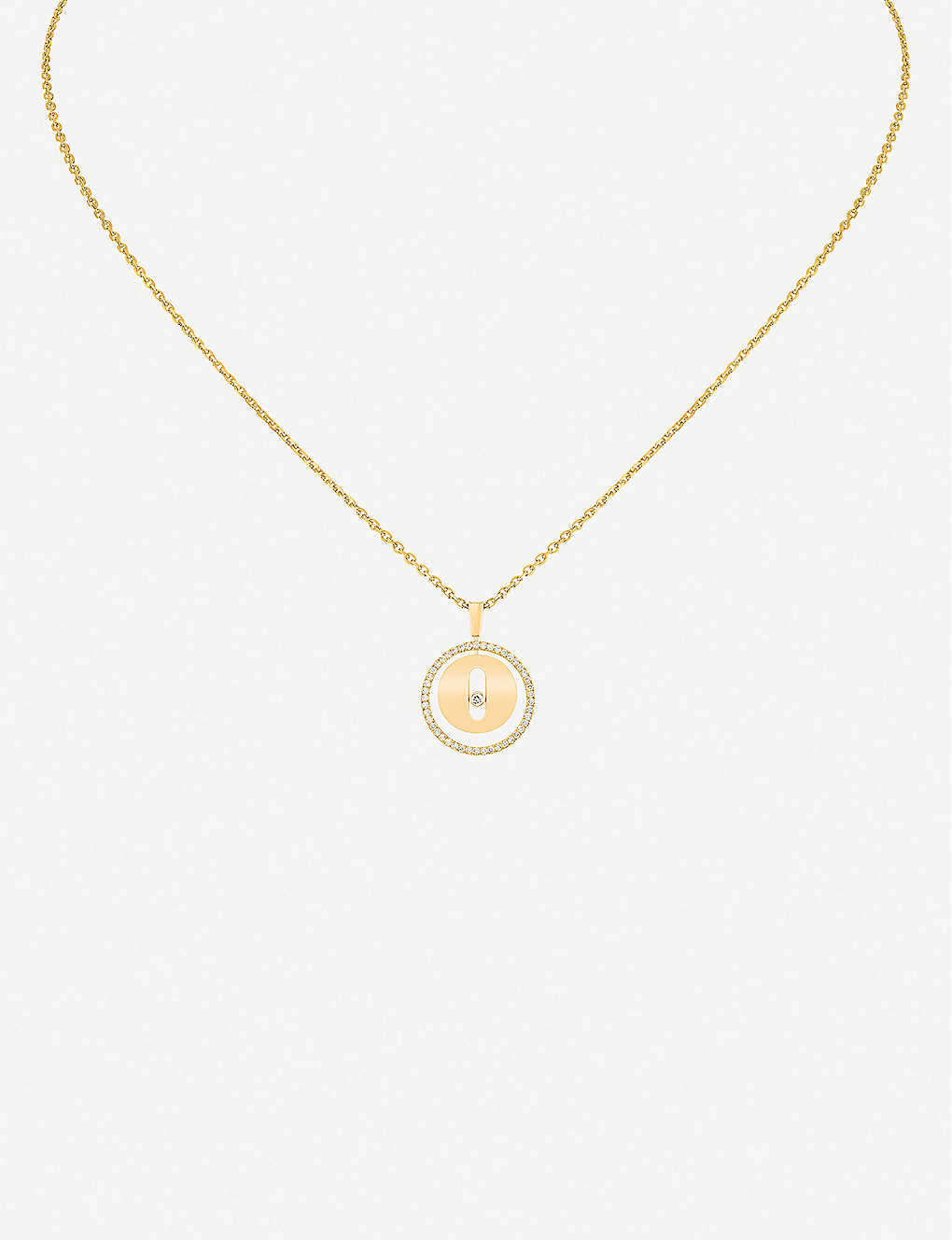 MESSIKA: Lucky Move 18ct yellow-gold and diamond necklace