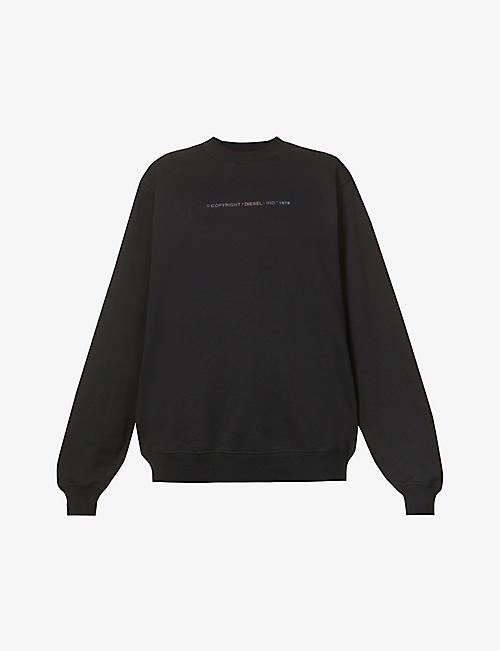 DIESEL: F-Ang-Copy logo cotton-jersey sweatshirt