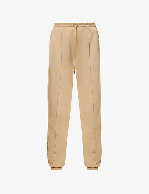 NINETY PERCENT: Exposed-seam organic-cotton jersey jogging bottoms