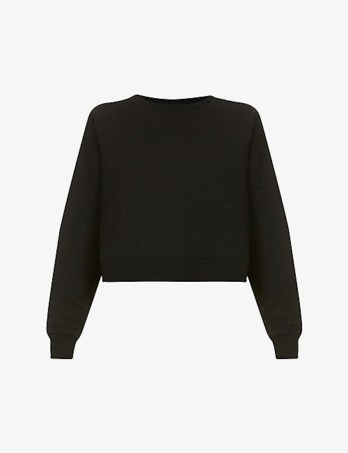NINETY PERCENT: Cropped organic-cotton jersey sweatshirt