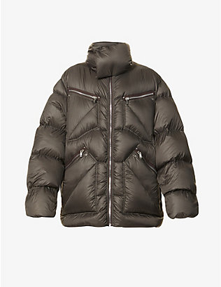 RICK OWENS: Jumbo funnel-neck shell-down jacket