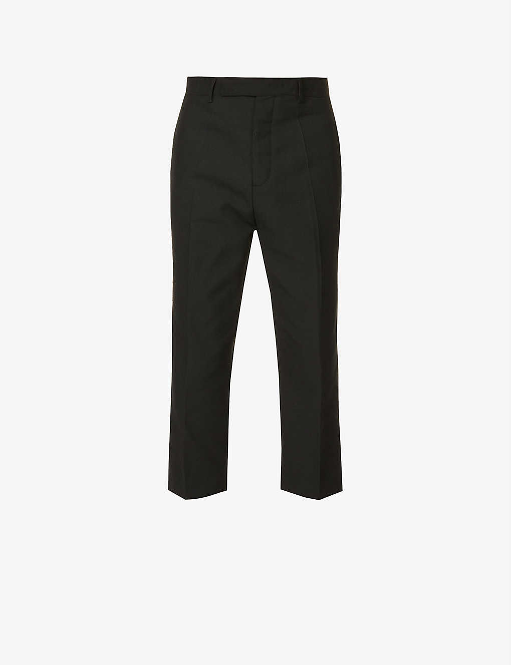 RICK OWENS: Slim Astaire cropped woven trousers