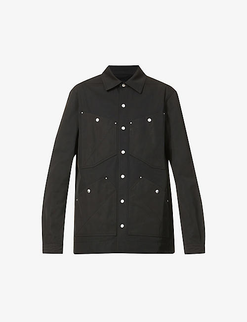 RICK OWENS: Techno regular-fit shell overshirt