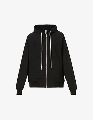 RICK OWENS: Relaxed-fit cotton-jersey hoody