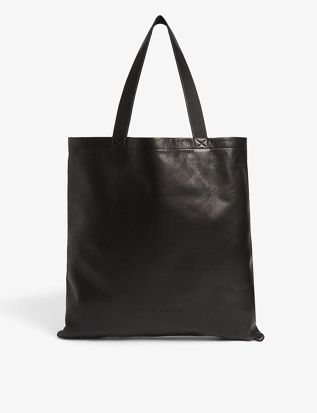 RICK OWENS: Signature leather tote bag