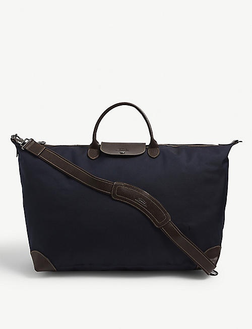LONGCHAMP: Longchamp canvas extra large travel bag