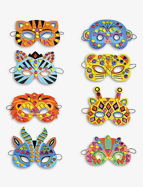 DJECO: Jungle animal mask set of 6