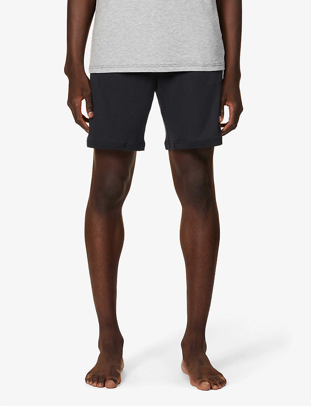 BOSS: Refined stretch-jersey shorts