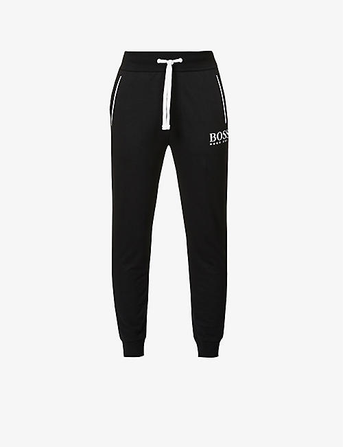 BOSS: Authentic cotton-jersey jogging bottoms