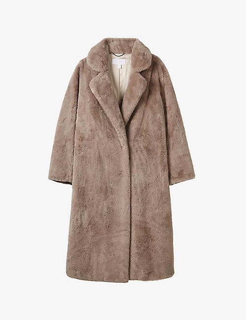 THE WHITE COMPANY: Faux-fur coat