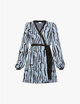 ART DEALER: Liza abstract-print knitted cardigan