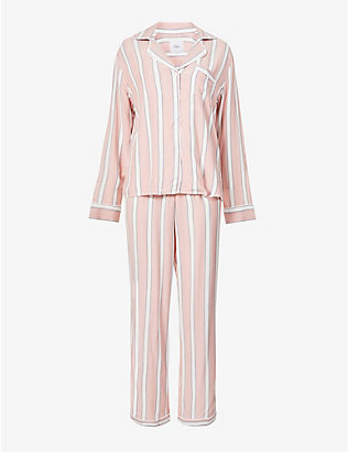 RAILS: Clara striped woven pyjama set