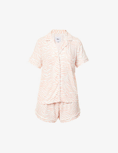 RAILS: Nessa striped stretch-jersey pyjama set