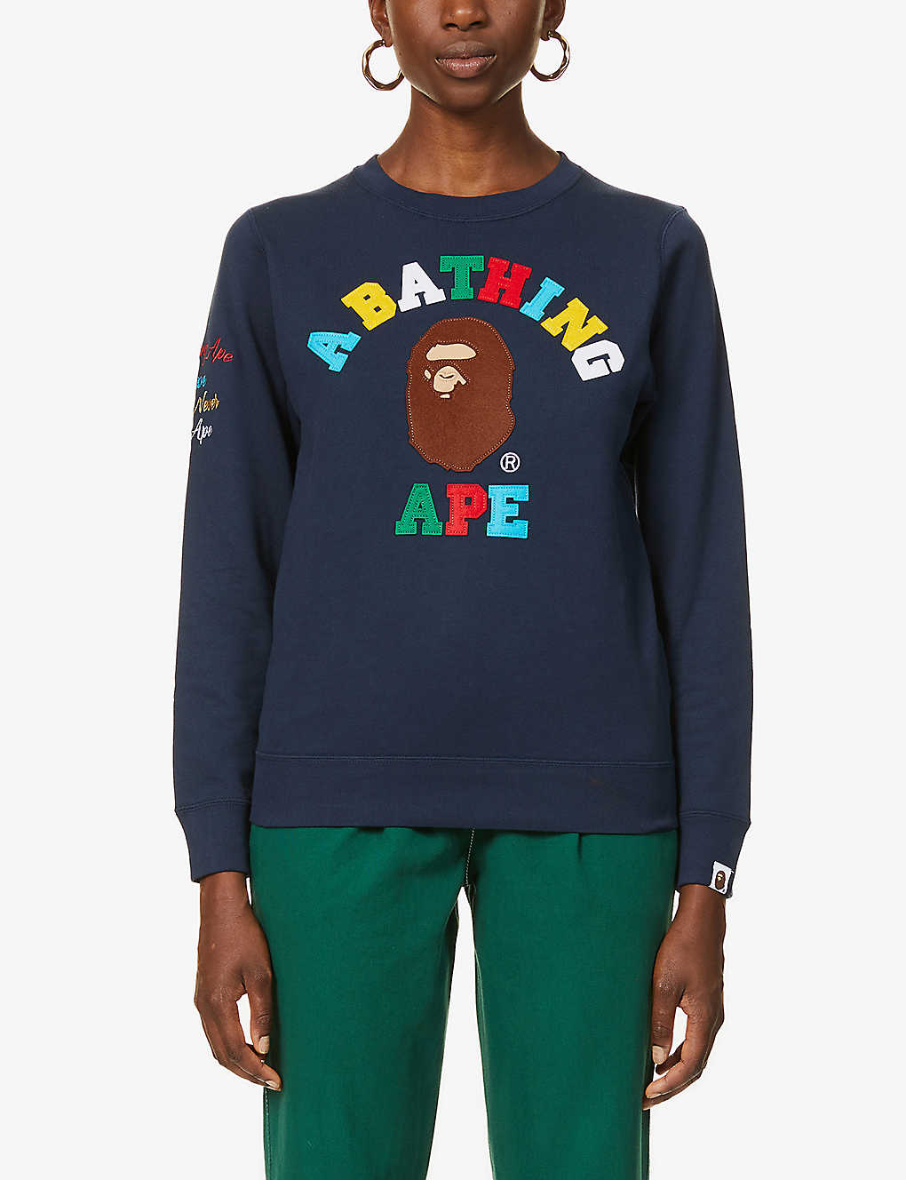 BAPE: Rainbow College cotton-jersey