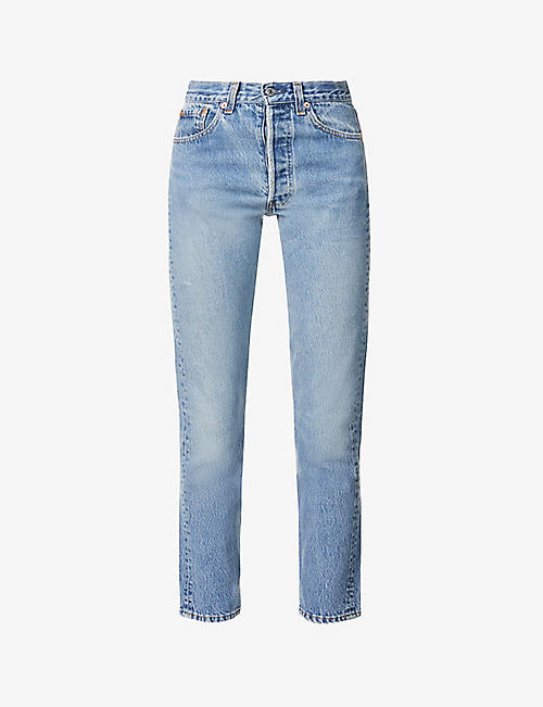 LEVIS: Levi's Authorised Vintage 501 straight-leg high-rise jeans
