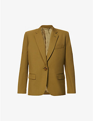 ATTICO: Poly single-breasted woven jacket