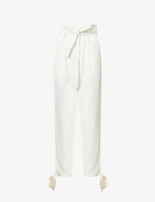 REFORMATION: Avalon tapered high-rise lyocell trousers