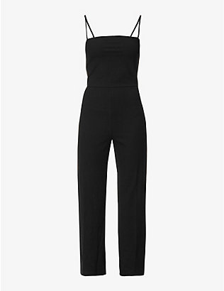 REFORMATION: Kelsi square-neck stretch-jersey jumpsuit