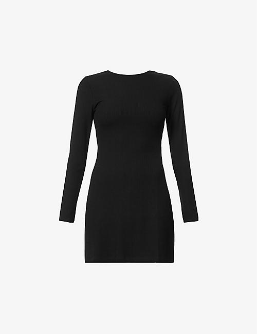 REFORMATION: Kensy cut-out stretch-jersey mini dress