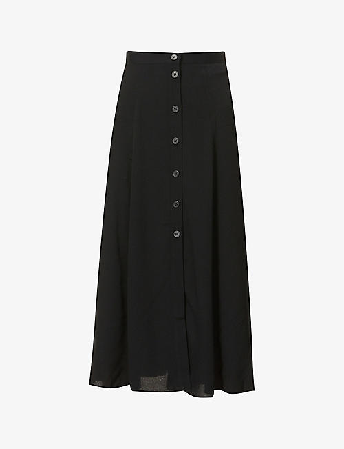 REFORMATION: Hermosa high-waist crepe midi skirt
