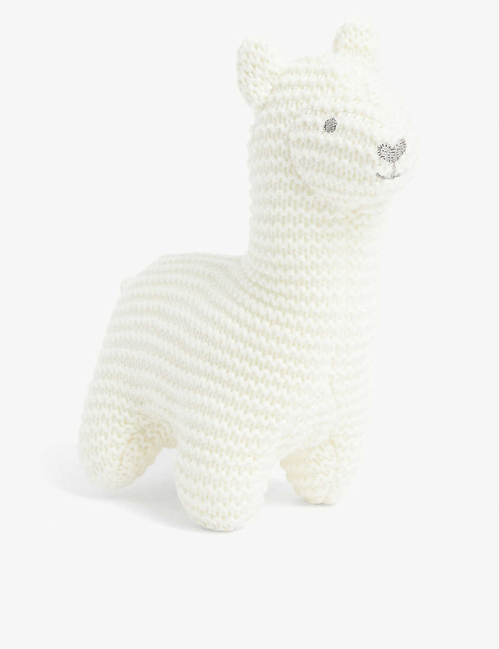 THE LITTLE WHITE COMPANY: Llama knitted squeak toy 17cm
