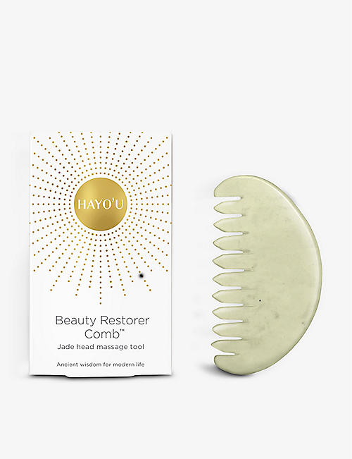 HAYO'U: Beauty Restorer Comb™ jade head massage tool