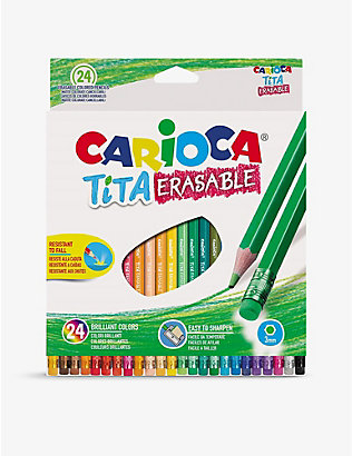 CARIOCA: TITA Erasable coloured pencils set of 24