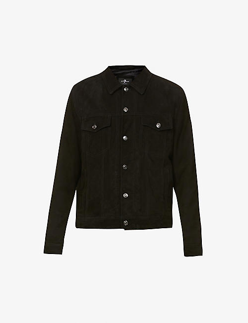 7 FOR ALL MANKIND: Suede trucker jacket