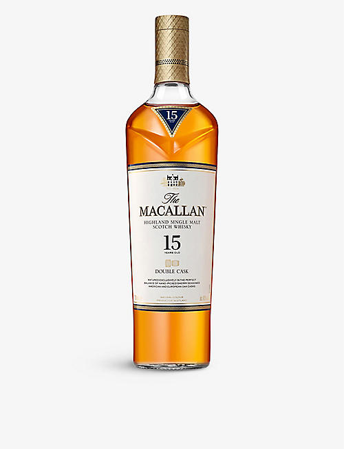 MACALLAN: 15-year-old double cask Scotch whisky 700ml