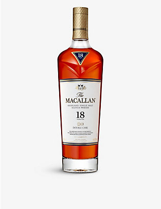 MACALLAN: 18-year-old double cask Scotch whisky 700ml