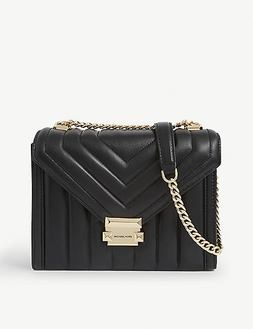MICHAEL MICHAEL KORS: Whitney Costa large leather shoulder bag
