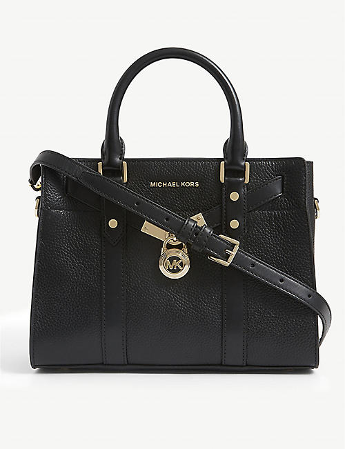 MICHAEL MICHAEL KORS: Nouveau Hamilton leather satchel bag
