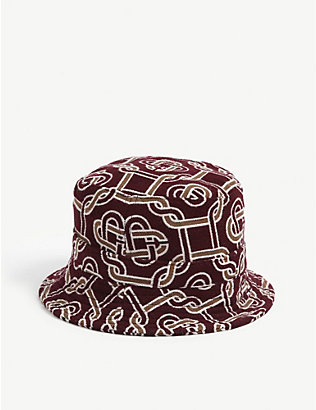 CASABLANCA: Logo-embellished wool-blend bucket hat