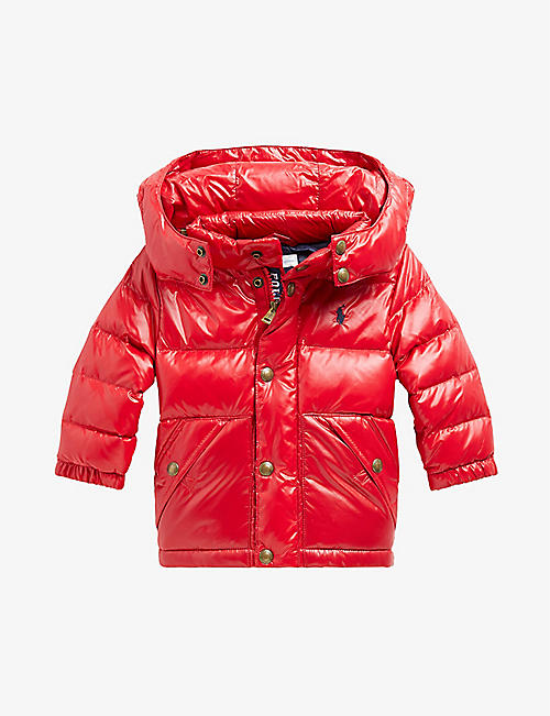 RALPH LAUREN: Quilted-down shell puffer jacket 3-24 months