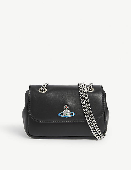 VIVIENNE WESTWOOD: Emma orb logo leather cross-body bag