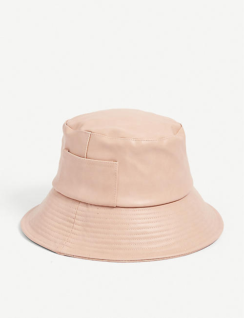 LACK OF COLOR: Wave vegan-leather bucket hat