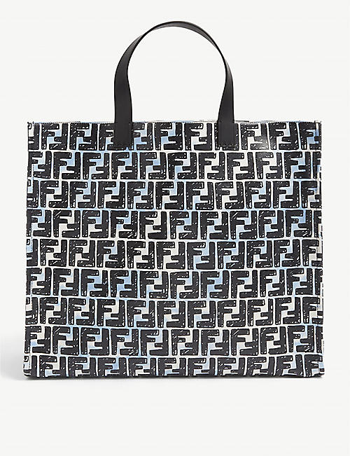 FENDI: FF-print coated canvas tote bag