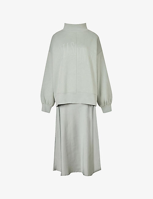ALLSAINTS: Nevarra organic-cotton and recycled polyester-blend woven dress