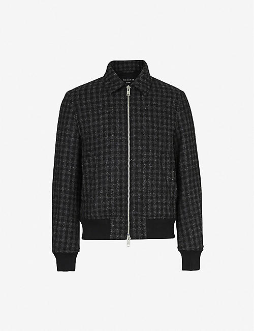 ALLSAINTS: Estrela British Harris tweed wool jacket